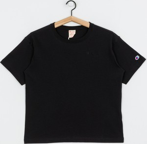 Czarny t-shirt Champion z okrągłym dekoltem z krótkim rękawem w stylu casual