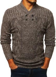 Brązowy sweter Dstreet z dzianiny