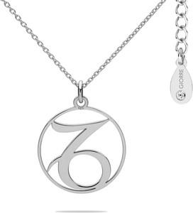 Hebe Naszyjnik znak zodiaku KOZIOROŻEC 925 z kryształem Swarovskiego srebro 925 : Kolor pokrycia srebra - Pokrycie Jasnym Rodem