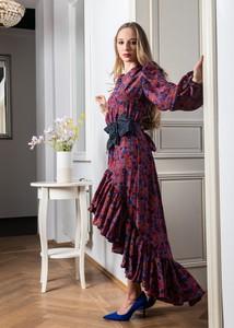 Sukienka My Image Art maxi w stylu boho z długim rękawem