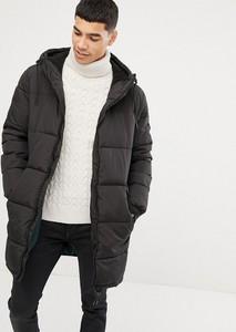 Czarny płaszcz męski Esprit