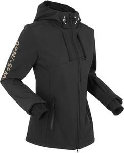 Czarna kurtka bonprix bpc bonprix collection bez wzorów