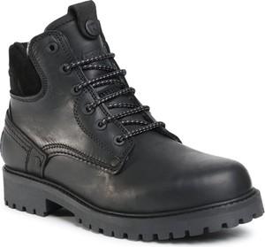 Czarne buty zimowe Wrangler sznurowane