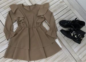 Brązowa sukienka dziewczęca Petit Boutique - Moda Dziecięca