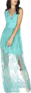 Zielona sukienka Relish maxi z dekoltem w kształcie litery v