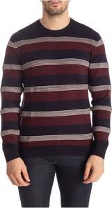 Czerwony sweter Emporio Armani z dżerseju