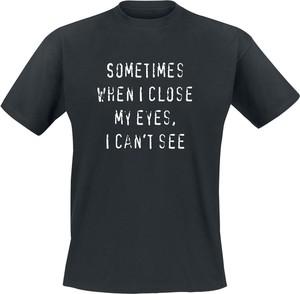 Czarny t-shirt Emp z krótkim rękawem w młodzieżowym stylu