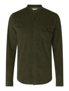 Zielona koszula S.Oliver ze sztruksu ze stójką w stylu casual