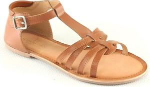 Sandały Manoukian Shoes w stylu casual ze skóry