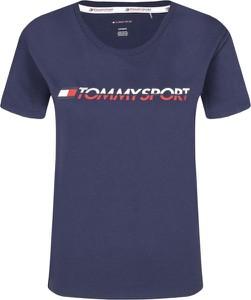 T-shirt Tommy Sport z krótkim rękawem w młodzieżowym stylu