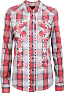 Fioletowa koszula Guess z długim rękawem w stylu casual