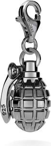 GIORRE SREBRNY CHARMS GRANAT 925 : Kolor pokrycia srebra - Pokrycie Czarnym Rodem