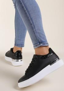 Czarne buty sportowe Renee z płaską podeszwą