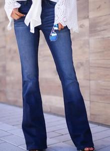 Niebieskie jeansy Sandbella z jeansu w stylu casual