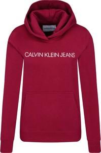 Czerwona bluza Calvin Klein krótka w stylu casual