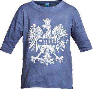 Niebieska koszulka dziecięca Robert Kupisz z bawełny z krótkim rękawem dla chłopców