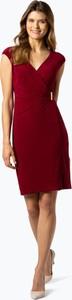 Czerwona sukienka Ralph Lauren z krótkim rękawem