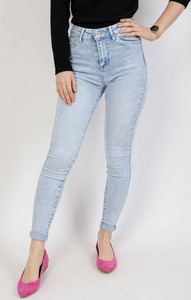 Niebieskie jeansy Olika w street stylu z jeansu