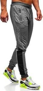 Spodnie sportowe Denley w sportowym stylu z bawełny