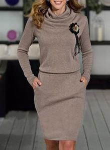Sukienka Sandbella z golfem mini z dresówki