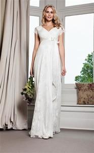 ab909ffd sukienki ślubne ciążowe cywilny - stylowo i modnie z Allani