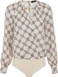 Bluzka Elisabetta Franchi z dekoltem w kształcie litery v