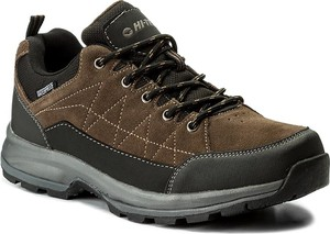 Szare buty trekkingowe hi-tec z zamszu