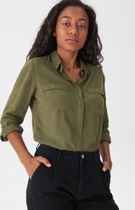 Zielona koszula House z kołnierzykiem