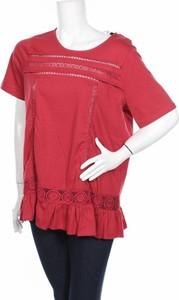 Czerwona tunika Junarose z krótkim rękawem