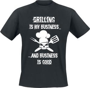 Czarny t-shirt Emp z krótkim rękawem