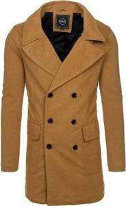 Żółty płaszcz męski Denley