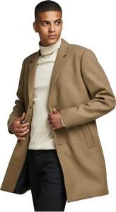 Brązowy płaszcz męski Jack & Jones