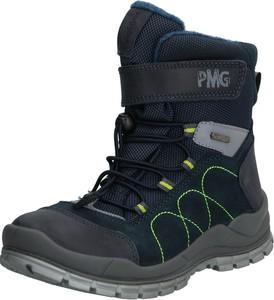 Granatowe buty dziecięce zimowe Primigi ze skóry