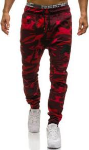 Bordowe spodnie denley z elastanu