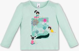 Miętowa koszulka dziecięca Palomino z bawełny