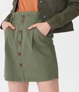 Zielona spódnica House w stylu casual