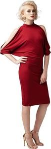 Sukienka fADD z długim rękawem midi ołówkowa