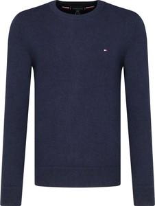 Niebieski sweter Tommy Hilfiger z kaszmiru