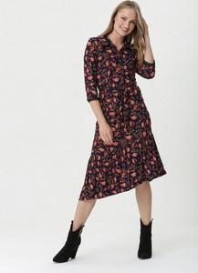 Sukienka born2be z długim rękawem w stylu casual koszulowa