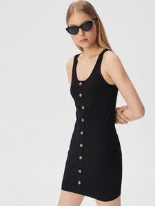 71c4a8b366 czarna sukienka sinsay - stylowo i modnie z Allani