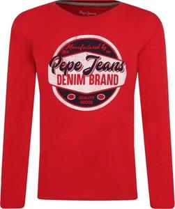 Czerwona bluza dziecięca Pepe Jeans