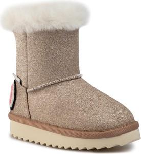 Złote buty dziecięce zimowe Pepe Jeans