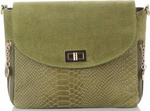 Zielona torebka VITTORIA GOTTI ze skóry na ramię