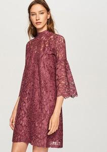 Sukienka Reserved z golfem mini z długim rękawem