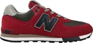 Czerwone buty sportowe New Balance 574 sznurowane