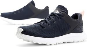Niebieskie buty sportowe The North Face sznurowane z płaską podeszwą