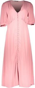 Różowa sukienka Only z krótkim rękawem