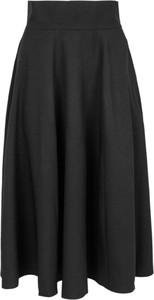 Czarna spódnica Style z tkaniny midi