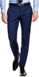 Granatowe spodnie giacomo conti z wełny