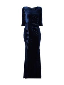 Granatowa sukienka Paradi z okrągłym dekoltem maxi
